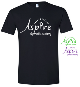 Aspire Logo Black Boxy T shirt