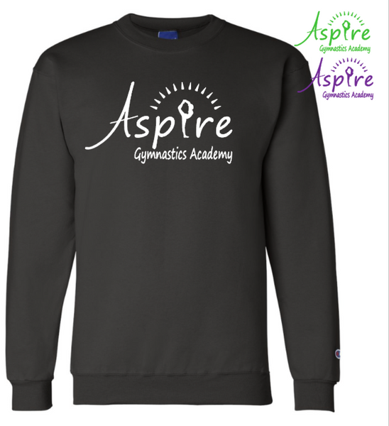 Aspire Logo Champion Brand Crewneck Sweatshirt Personalize for FREE!