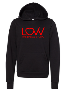LOVV Youth Black hoodie Choose solid or glitter print