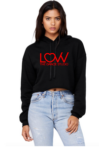 Adult LOVV hoodie Cropped Choose solid or glitter print
