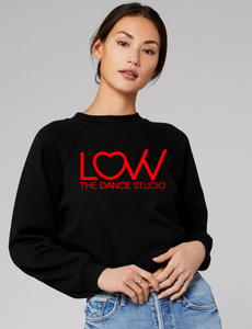 Adult LOVV crewneck sweatshirt Cropped Choose solid or glitter print