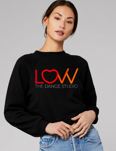 Adult LOVV crewneck sweatshirt Cropped Choose full color solid or glitter print
