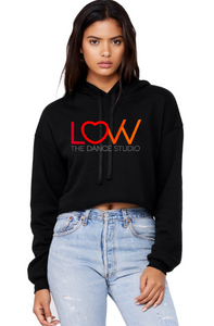 Adult LOVV hoodie Cropped Choose full color solid or glitter print