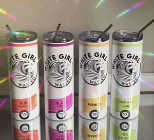 White Girl Wasted Inspired White Claw Skinny Tumblers