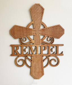 FFH Fundraiser Personalized Laser Cut Wood Cross 2 color options