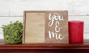 You and Me 4X6 Photo Frame