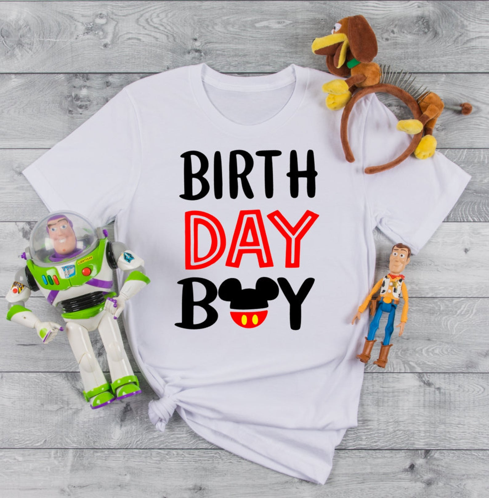 Birthday Boy Mickey Mouse Shirt