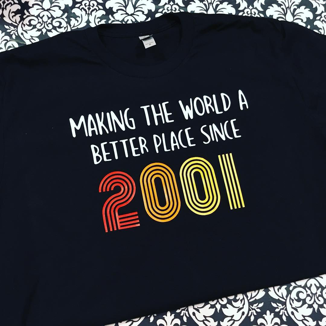 Making the World A Better Place Since Birthday Year Shirt