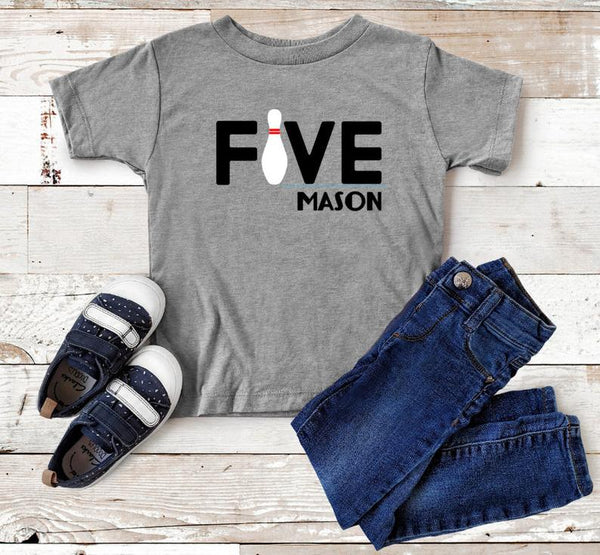 Birthday Number Personalized Bowling Shirt