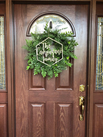 Family Name Wood Door Signs