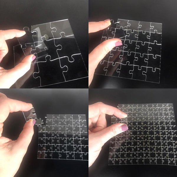 Impossible Clear Acrylic Puzzle 4 levels