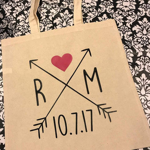Custom Wedding Date Tote Gift