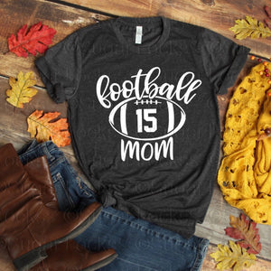 Custom Football Mom Number shirt
