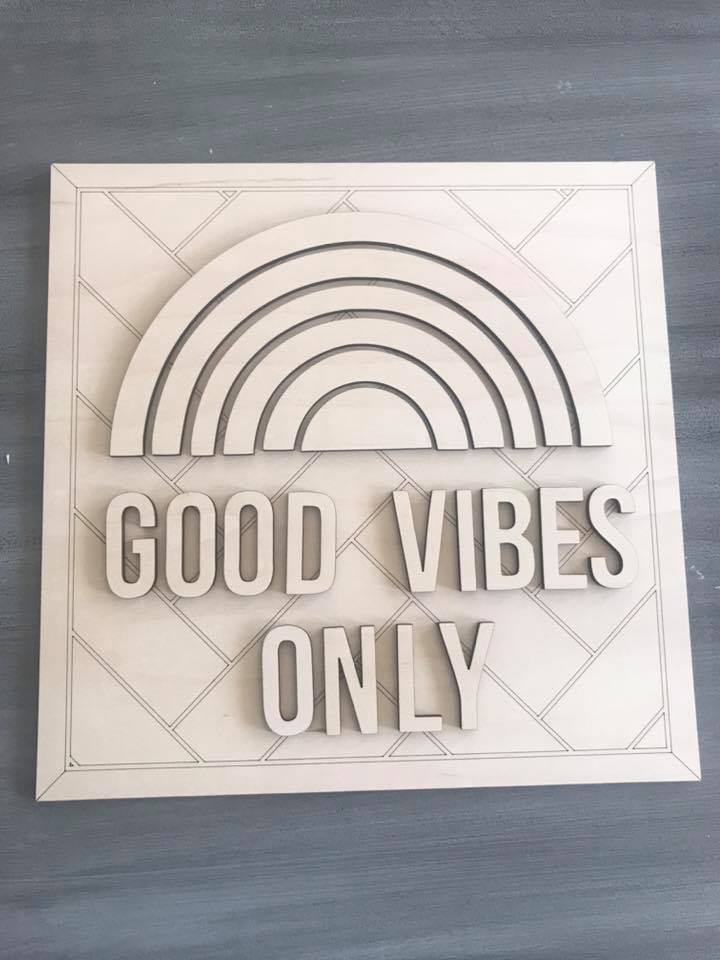 DIY Sign Good Vibes Only Paint Kit