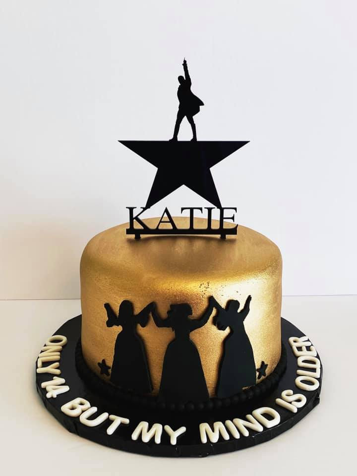Hamilton Star Acrylic Personalized Cake Topper