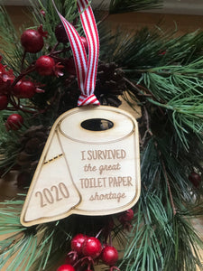 I survived the great toilet paper shortage 2020 ornament