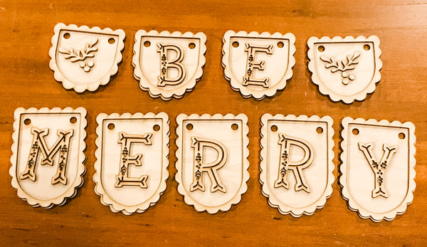 DIY Mini Be Merry Banner Paint Yourself