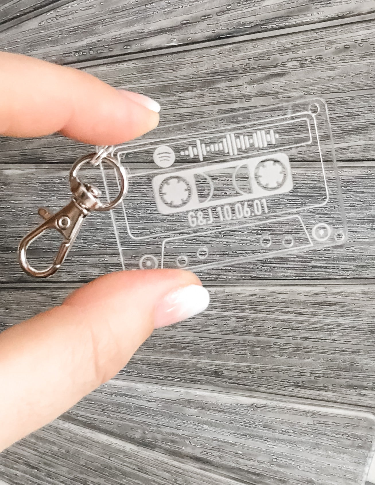 Retro Cassette Tape Custom Engraved Song Spotify Code
