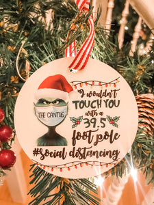 Personalized Grinch 2020 ornament social distancing