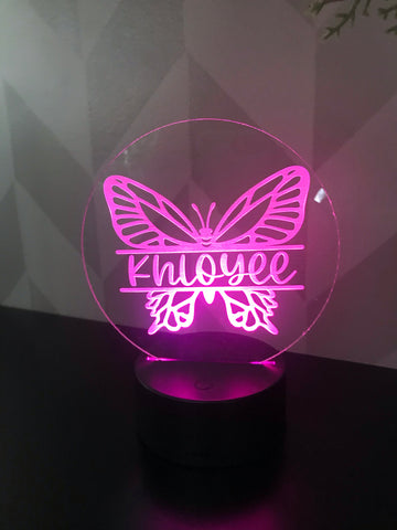 Butterfly Personalized Light Up Acrylic Sign