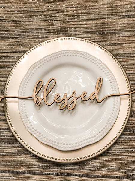 Thanksgiving wood plate sayings