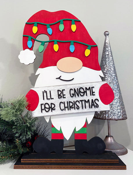 DIY Christmas Gnome Paint yourself Stand