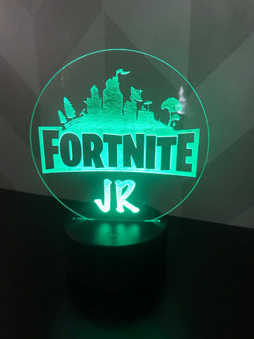 Fortnite Personalized Light Up Acrylic Sign