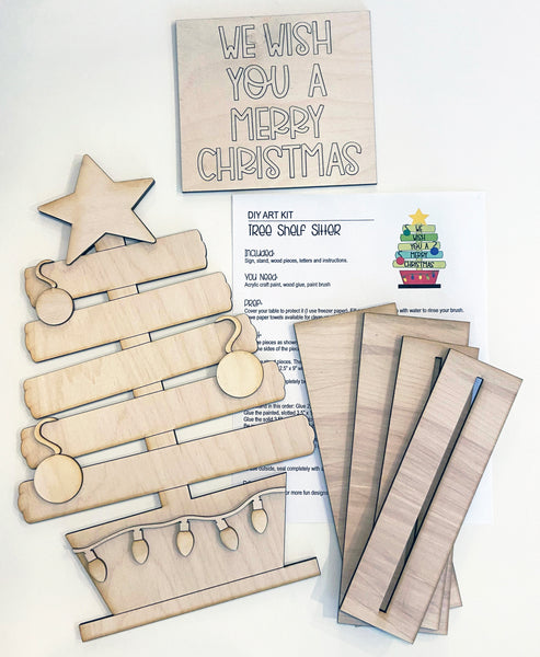 DIY Christmas Tree Paint yourself Stand