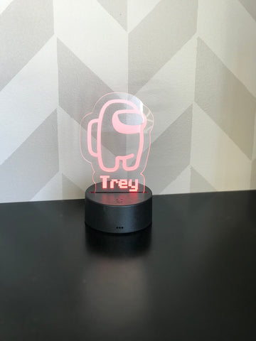 Among Us personalized LED light/nightlight with remote