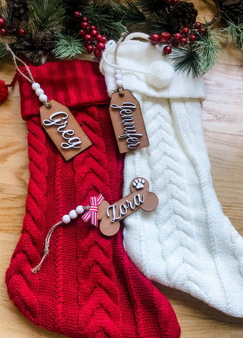Personalized Wood Stocking Tags