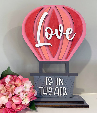 DIY shelf sitter Love is in the Air Hot Air Balloon Paint yourself