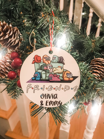 Among Us Friends Personalized Ornament
