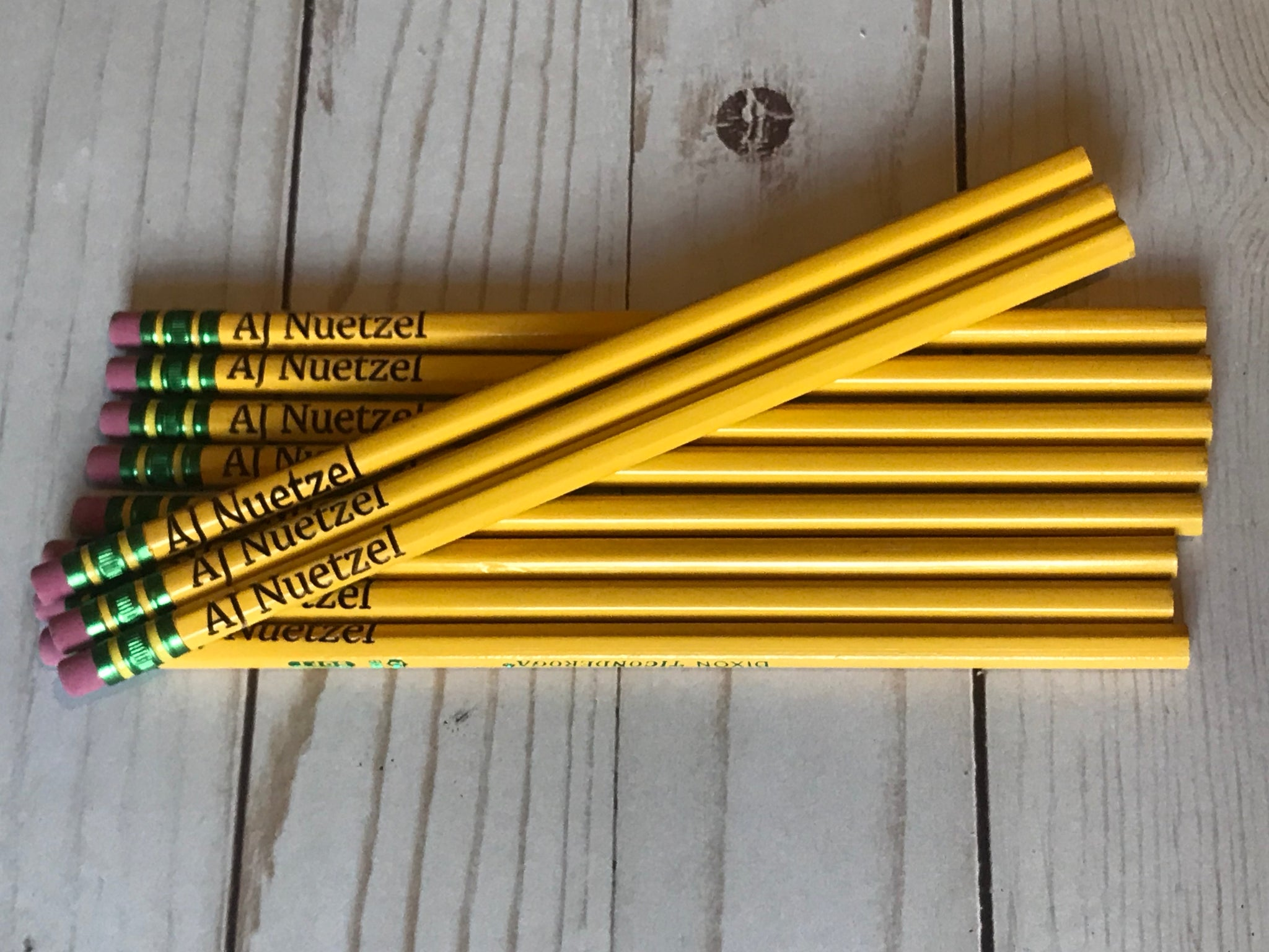 Personalized Engraved Pencils Set of 12