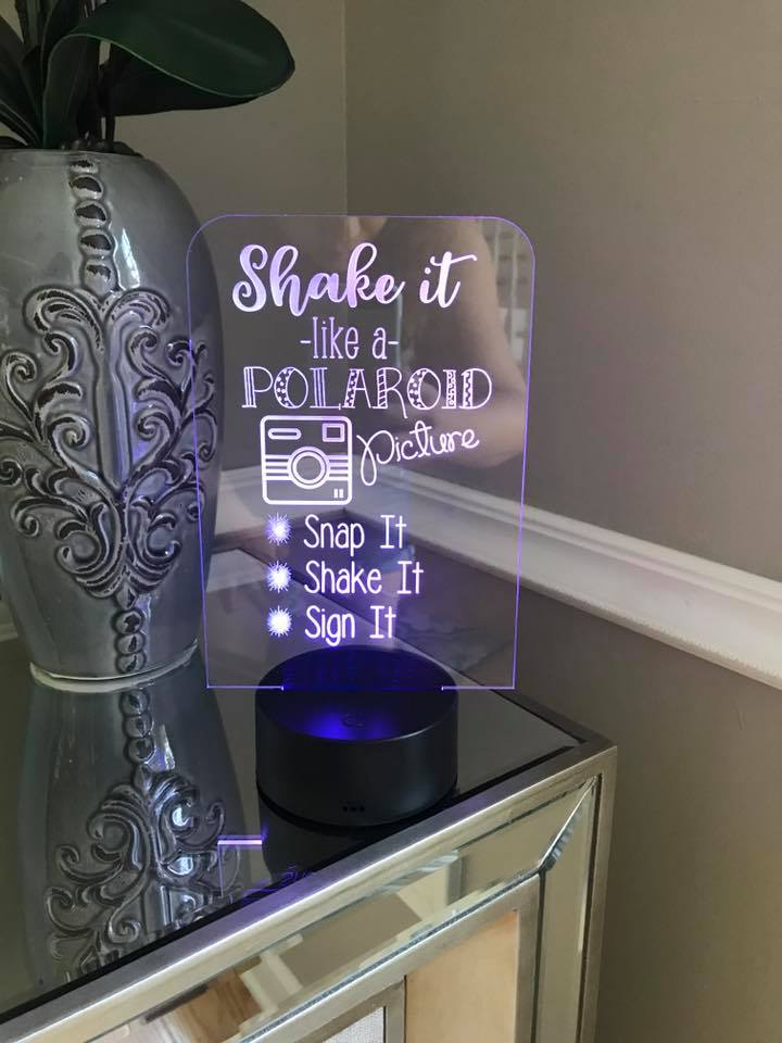 Shake it Like a Polaroid Picture Acrylic LED Light up Sign
