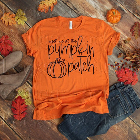 Meet me at the Pumpkin Patch Custom Fall shirt