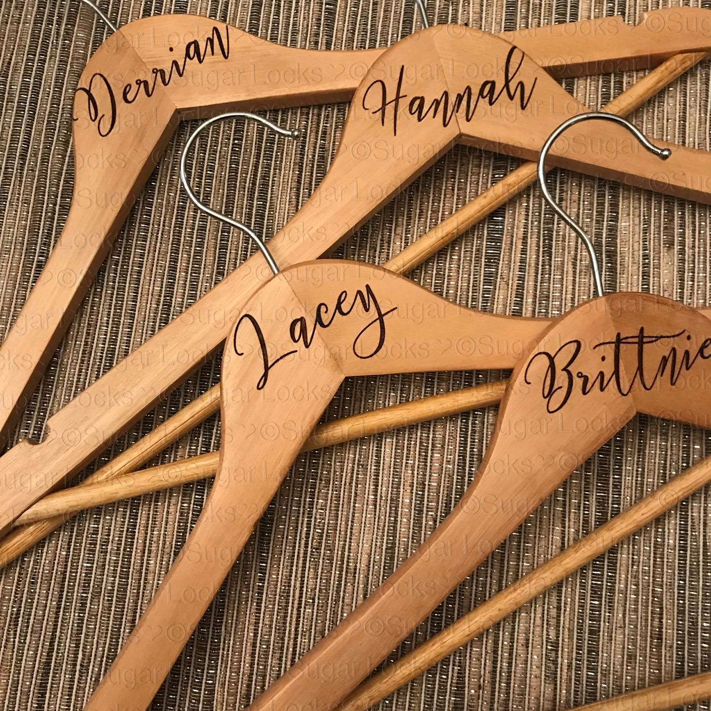 Simple Bridal Party Wood Hangers Custom Personalized