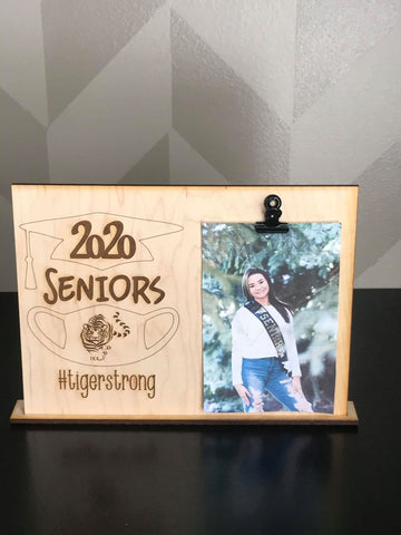 Senior Custom Wood Engraved Picture Frame Stand- Joliet West