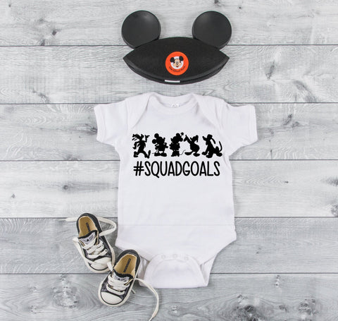 Mickey Mouse and Gang #squadgoals Onesie or youth-adult shirt
