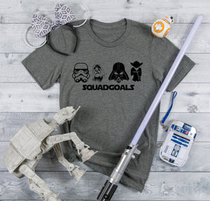 Star Wars Squad Goals shirt youth and adult sizes