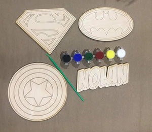 DIY Super Hero Personalized Paint Kit