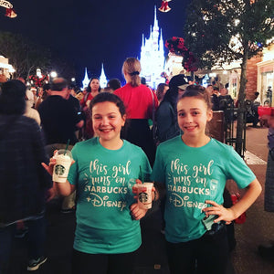This Girl Runs on Disney and Starbucks Vacation Shirt