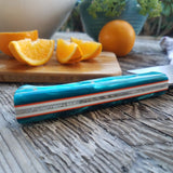 NORA Nakiri #1434 - AEB-L Stainless Steel -  Teal | Orange | White