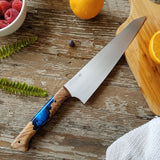 NORA #1465 - 8' AEB-L Gyuto - Deep Blue Sea Shokwood