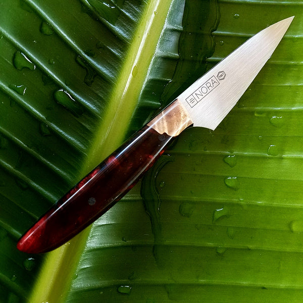 NORA Paring Knife #1001 - Ruby Red Shokwood