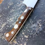 Chef #1102 - 52100 Carbon Steel - White Dots