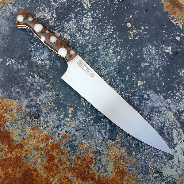 Chef 1102 52100 Carbon Steel White Dots Nora Knives