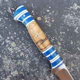 NORA Boning Knife #1106 - Blue | White | Wood