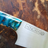 NORA #1135 - 7.5' Santoku - Maple & Teal