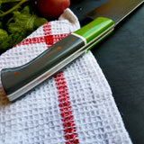 NORA # 1321- CPM M4 8' Gyuto - Green | Gray | White