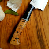 NORA # 1334 - 8.5' AEB-L Chef - Spalted Maple | Black Resin